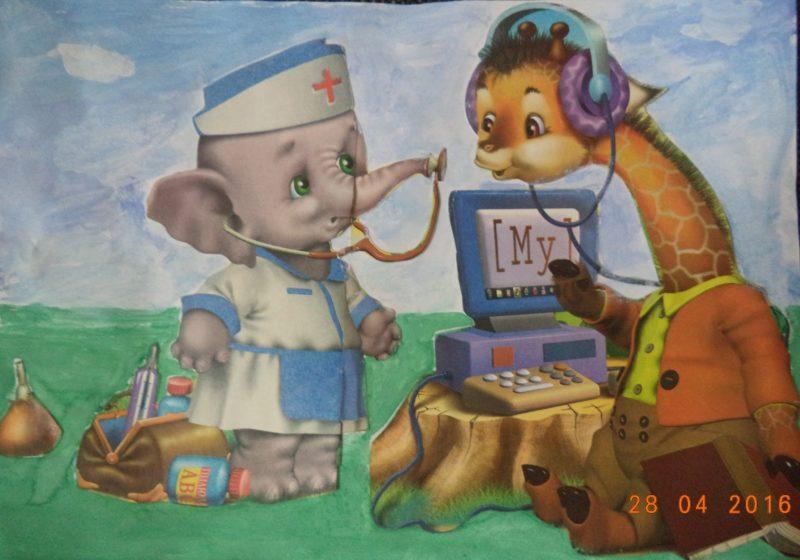 Детские рисунок я прививок не боюсь